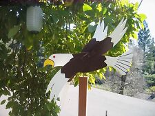 Eagle Wooden Whirligig-Hand Crafted- Painted