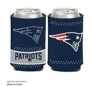New England Patriots Ladies Tin Coolers NFL Football Can Cooler Rhinestone