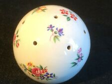 Vintage Ceramic Pomander - for Pot Pourri.  (7 cm) round with floral decoration