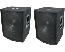"NEW (2) 15"" SUBWOOFER Speakers PAIR.Woofer Sub box.DJ.PA.BASS set Pro Audio.8ohm"