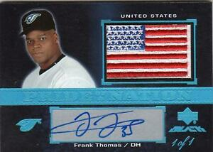 2007 PRIDE OF NATION FLAG PATCH AUTO FRANK THOMAS #1/1