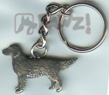 Golden Retriever Dog Fine Pewter Keychain Key Ring Fob