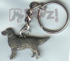GOLDEN RETRIEVER Dog Fine Pewter Keychain Key Ring Fob
