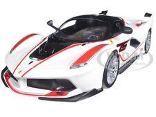 FERRARI RACING FXX-K #75 WHITE 1/24 DIECAST MODEL CAR BY BBURAGO 26301