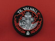 TIL VALHALL Tactical Army Viking Embroidered Hook & Loop Patch
