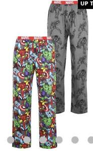 Marvel Comic Nightwear Pj 2 Pack Lounge Pant Small NEW S