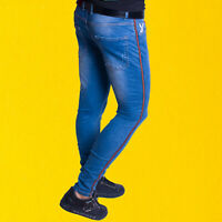 MENS JEANS BOY SKINNY SUPER SLIM STRETCH SLIM FIT DENIM TROUSER