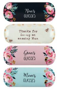 Brand new CHOOSE FROM nans grans mams amazing mum Hard glasses case GREAT GIFT