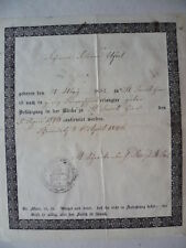 Konfirmationszeugnis Chemnitz 1846