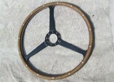 Vintage Wood Steering Wheel 3 Spoke Steering Wheel European Sports Car ORIGINAL!