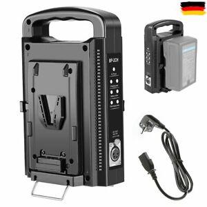 BP-2CH Dual Slot Akku Ladegerät Charger+ EU Netzteil für V-Mount V-Lock Batterie