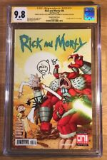 Rick and Morty 36, Vasquez, CGC 9.8 2X SS, signed and sketch Starks and Trujillo