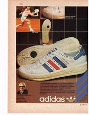 "1978 Adidas ""Tom Okker Professional"" Vintage Tennis Shoe Print Advertisement"