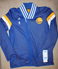 RARE! Golden State Warriors ADIDAS Warm Up NBA Women's GSW Track Jacket Blue M