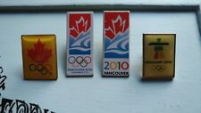 Vancouver 2010 Olympics Pins Lot Bell Candidate City Flag & Flame