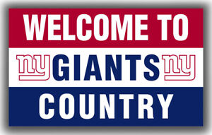 New York Giants Welcome GIANTS Country Flag 90x150cm 3x5ft Football best banner