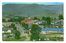 Virginia City MT Town View with Cars Pulling Travel Trailers Postcard 1950s