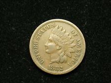ESTATE SALE COIN XF 1882 INDIAN HEAD CENT PENNY w/ FULL LIBERTY & DIAMONDS #245v