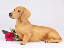 Large 119 Cubic Inches Red Dachshund Short Hair Resin Urn for Cremation Ashes