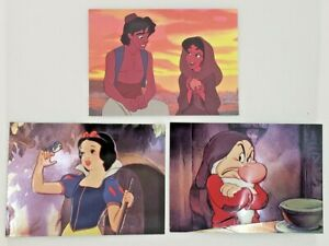 Skybox Disney Aladdin & Snow White Chase Cards - Spectra Etch & Embossed Foil