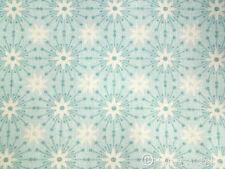 0,5 m ♥ Stoff Baumwolle Sterne Kristalle  Blumen Muster türkis aqua Mathilda´s