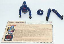 "Vintage 1984 Hasbro GI Joe 3.75"" Cobra Commander Figure Card Mail Away Complete"