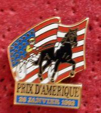 PIN'S CHEVAL EQUITATION SULKY COURSE PRIX D'AMERIQUE 1992 ZAMAC STARPIN'S