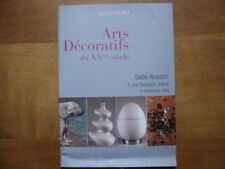 Catalogue de Vente aux Encheres 2004 ARTS DECORATIFS du XX e siecle ART DECO