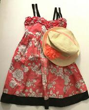 2 pcs- Sugar & Honey Dress + Girls Hat Old Navy Size 5.