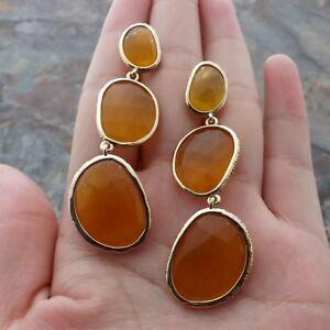 GE112913 Yellow Jade Earrings