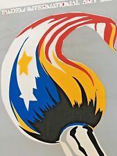 Vintage 1988  Tandem Art Exhibit Poster