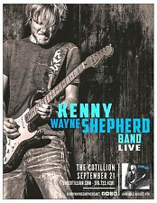 """KENNY WAYNE SHEPHERD BAND """"LIVE"""" 2017 WICHITA CONCERT TOUR POSTER - Blues Rock"""