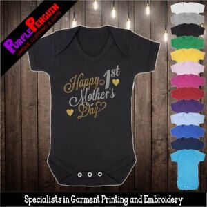Baby Grow - 1st Mother's Day 2021 Vest Funny Gift Shower Present Mum Girl Boy