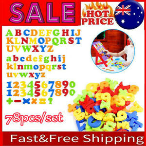 78PCS Magnetic Numbers Letters Alphabet Learning Toy Fridge Magnets Xmas gift #T