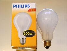 Philips Glühlampe Glühbirne A80 200 W Watt 200W  E27 matt NEU Selten 3040Lumen !