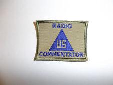 c0171 WW2 US Civilian Radio Commentator Patch Contractor R10C
