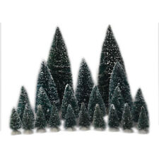 NEW Carole Towne CHRISTMAS VILLAGE Trees  21 pieces