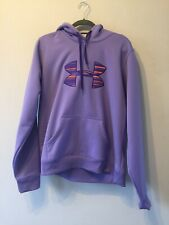 Under Armour UA Storm Purple Pullover Hoodie Gym Sweatshirt Size XL