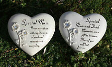 Heart Engraved Memorial Grave Marker Headstone Plaque