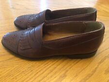 Bostonian Florentine Penny Loafers Brown Leather Italy Captoe Size 9.5M