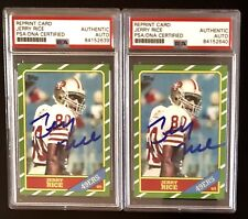 🔥Jerry Rice Signed/Auto 1986 Topps Rookie Card Rp Psa Autographed All Mint🔥