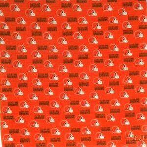 Bandanna for Cleveland Browns on Orange 100% Cotton #597 Handmade
