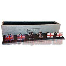 Lot de 3 britannique Boutons de manchette PAR ONYX ART - Cadeau en boîte -