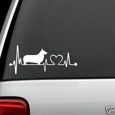 K1037 Pembroke Welsh Corgi Heartbeat© Decal Sticker for Car Truck Suv Van