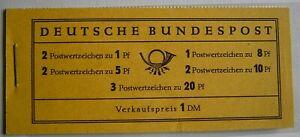 """Bund - Markenheftchen 4X """"Heuss I/Ziffer"""" postfrisch"""