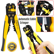 Automatic Cable Wire Crimper Crimping Tool Stripper Adjustable Plier Cutter UK