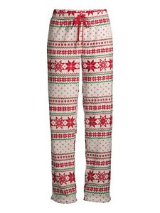 Secret Treasures Women's Fairisle Christmas  Pajama Sleep Pants