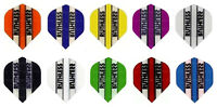10 Sets of Ruthless Transparent Colored Standard  Dart Flights - 30 Flights