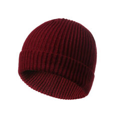 Men Women Unisex Hat Hip-Hop Wool Knitted Ski Cap Skull Warm Winter Cuff Beanie