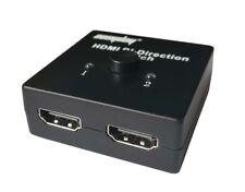 2 Ports HDMI Bi-directional Manual Switch 2x1 HDMI Switcher or 1x2 HDMI Splitter